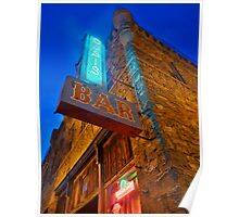 Glowing Oasis - Bar and Neon Signs at Night Poster