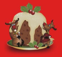 Children's Reindeer T Shirt For The Holidays With Pudding by Moonlake