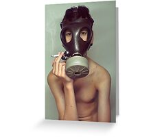 war smoke Greeting Card