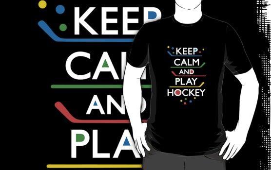 Keep Calm and Play Hockey - on dark   by Andi Bird