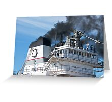 Smoke From The Stacks Greeting Card