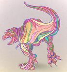 Rainbow Rex by Claudia Hidvgi