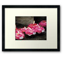 Lotus Candles  Framed Print