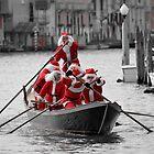 Santa's on a Venetian Gondola !!  by Helen J Cherry