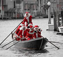 Santa's on a Venetian Gondola !!  by Helen J Cherry