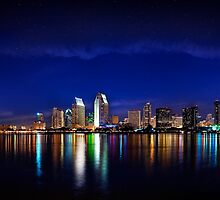 San Diego at Night by JeanaCPhoto