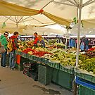 Fruit and Vegetable Stall, Ljubljana, Slovenia by Margaret  Hyde