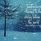 CHARACTER IS FORMED IN A BLIZZARD  by TYarte