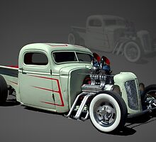 1946 Chopped Chevrolet Rat Rod Pickup Truck by TeeMack