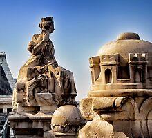 Rooftop Statues, Paris by Forrest Harrison Gerke