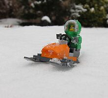 LEGO Mini Eskimo on Snowmobile by ArtShopEtc