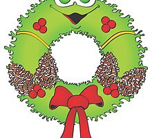 Christmas Wreath by Graphxpro