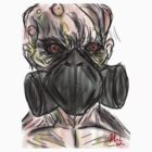 mutant gas mask  by DORKABOUT