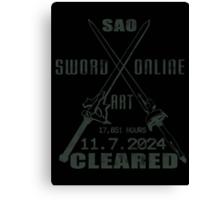 SAO Cleared  Canvas Print
