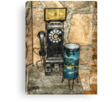 Antique Pay Phone Canvas Print