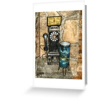 Antique Pay Phone Greeting Card