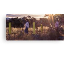 Kids in the Sun Canvas Print