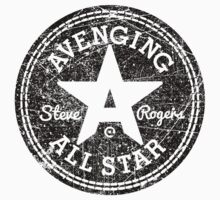 Avenging All Star (Black Distressed) Kids Clothes