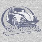 Volkswagen Beetle Tee Shirt by KombiNation