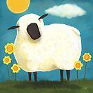Sheep & Flowers #1 by Lisa Marie Robinson