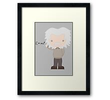 Excuse Me While I Science: Albert Einstein - E=mc² Equation Framed Print