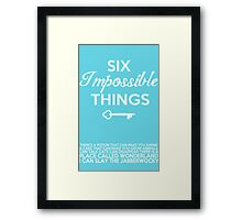 Impossible Things Framed Print