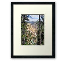 Peek-a-canyon Framed Print