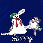 Flaaaaakesssssss..... - Zombie Snowmen Greetings by 1ofthenobodies