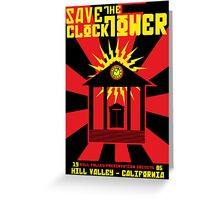 Clocktower Propaganda Greeting Card