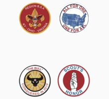 Moonrise Kingdom Patches Sticker Set (1) by kittenblaine