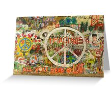 The Beatles John Lennon All You Need is Love Imagine Greeting Card