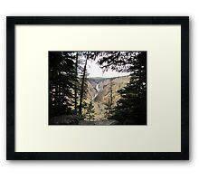 Peek-a-canyon 2 Framed Print