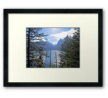Peek-a-lake Framed Print