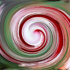 *Candy Cane Digital Abstract* by DeeZ (D L Honeycutt)