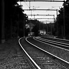 Curved Railroad by Michael Baker