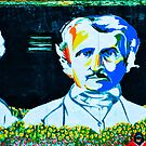 Woody Allen, Edgar Allan Poe, Hermann Hesse Mural by Richard Wolk by Kaitlyn Butler