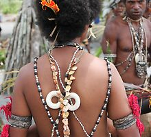 Papuan Woman Traditional Dress by BenClarkImagery