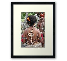 Papuan Woman Traditional Dress Framed Print