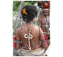 Papuan Woman Traditional Dress Poster