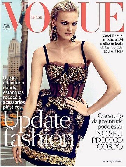 Primodels Review-Caroline Trentini covers Vogue Brazil by primodels