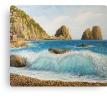 Faraglioni on Island Capri Canvas Print