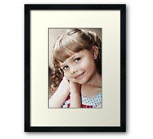 Hannah's Portrait Framed Print