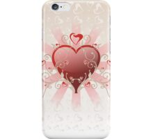 Valentine Love - Big Shiny Heart Gold Scroll T-shirt iPhone Case/Skin