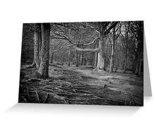 Chevin Forest Park #3 Mono Greeting Card