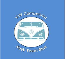 VW Campervan Team Blue by Samuel Shelton