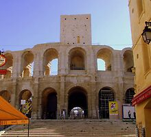 L'Ampitheatre In Arles Provence by Rusty  Gladdish