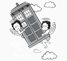 The Angels have the Phone Box - Version 3 BW (for dark tees) Kids Clothes