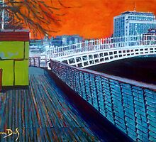 Boardwalk, Hapenny Bridge, Orange - Dublin by eolai