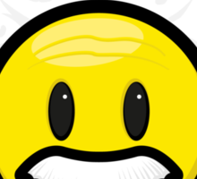 Smiley Einstein Icon Sticker
