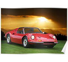 1973 Ferrari Dino 246 GTS Poster